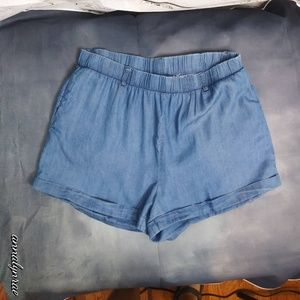 Ayla/ Chambray Shorts/ Large